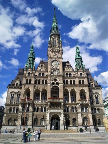 Town hall in Liberec, city where we are from.