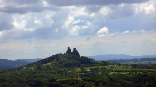Trosky Castle.Ruined castle, monumemt of Bohemian paradise.