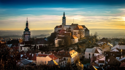 Mikulov town in Moravia region.Mikulov is a centre of winery in the Czech Republic.