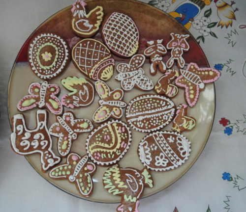 Gingerbread, we make this on Easter or on Christmas