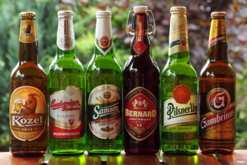 Bottled czech beer